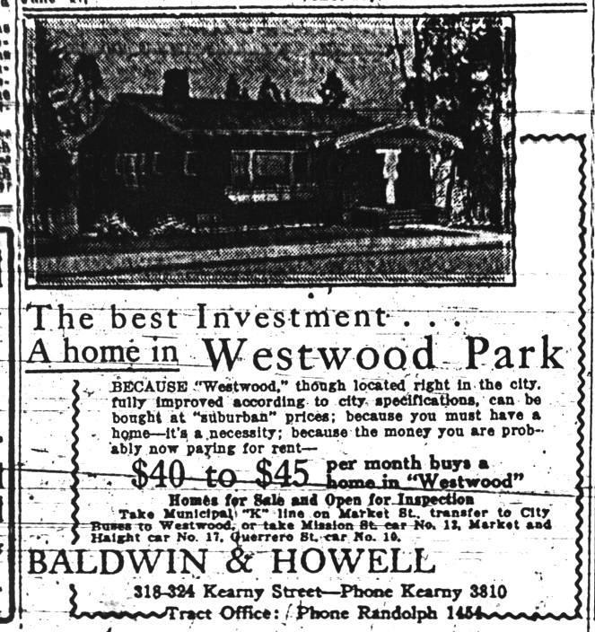 Westwood Park Historical Advertisements Westwood Park